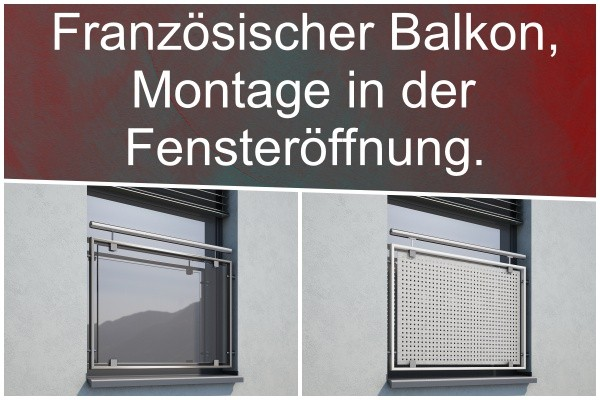 Franzosischer Balkon Montage In Der Fensterlaibung