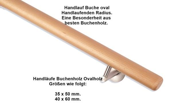 Holzhandlauf Buche oval.