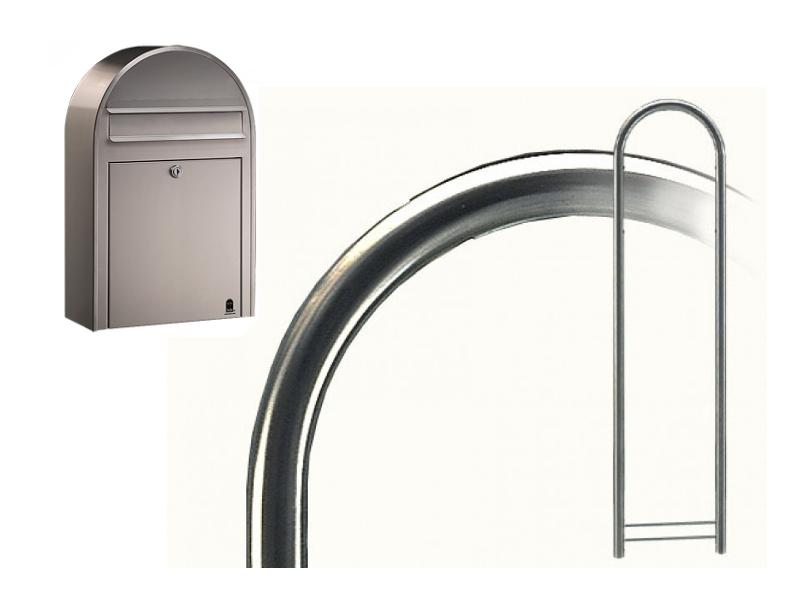 briefkasten bobi classic s edelstahl mit bobi round edelstahl deutschland. Black Bedroom Furniture Sets. Home Design Ideas