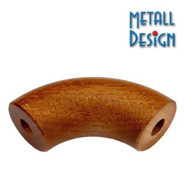 Handlaufbogen Mahagoni Holz beidseitig geborht
