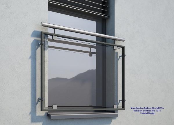 Französischer Balkon pulverbeschichtet anthrazit grau, RAL 7016