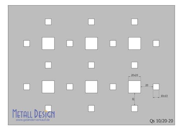 Lochblech Edelstahl Quadratlochung versetzt für Lochblechgeländer