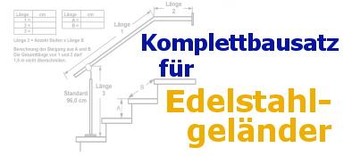 Edelstahl-Geländerbausatz