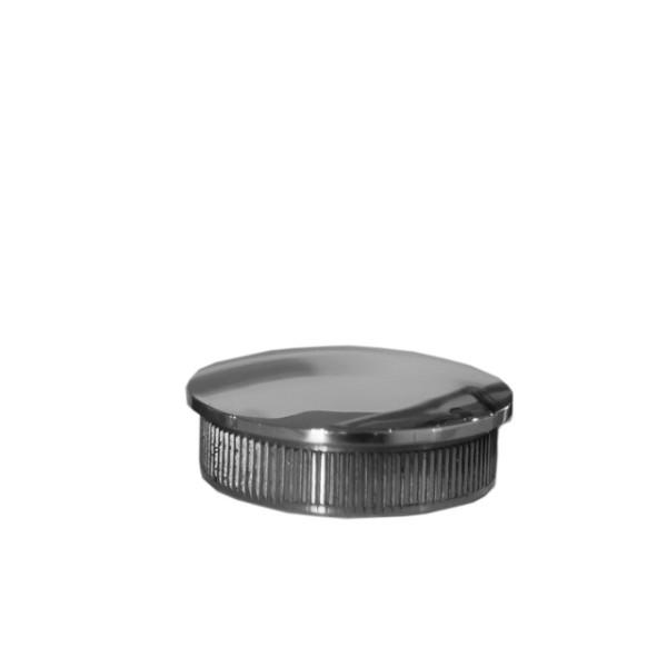 Edelstahl Endkappe hochglanz, V2A gewölbt, AISI 304