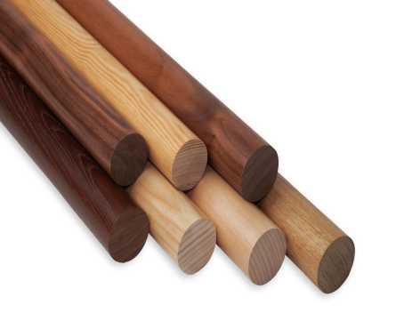 Rundholz lackiert für den Handlauf Holz