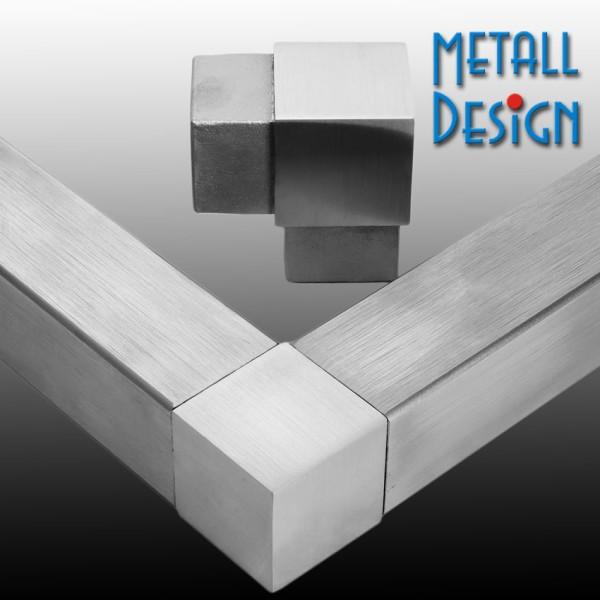 Rohrverbinder Vierkantrohr 90°, Material V4A