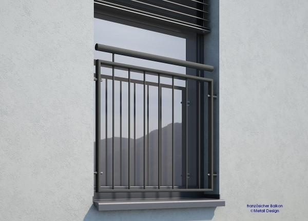 Franzosischer Balkon Md02ip Pulverbeschichtet Anthrazitgrau Ral