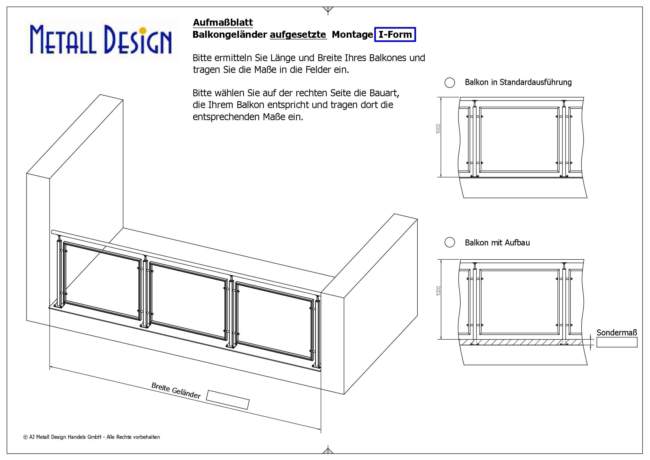 balkongel nder aufgesetzte montage anthrazitgrau ral 7016 deutschland. Black Bedroom Furniture Sets. Home Design Ideas