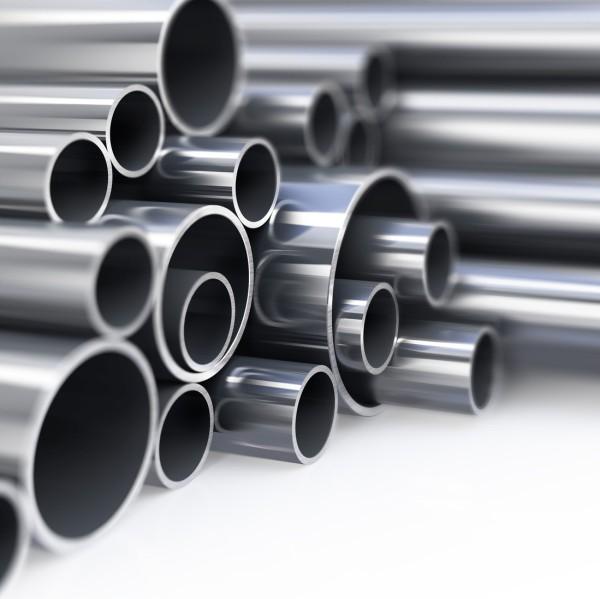 Edelstahlrohr 42,4 x 2,0 mm, hochglanz poliert, V2A, AISI 304