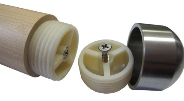 Handlauf Holz Adapter für Edelstahlenden und Verbindern 45 mm