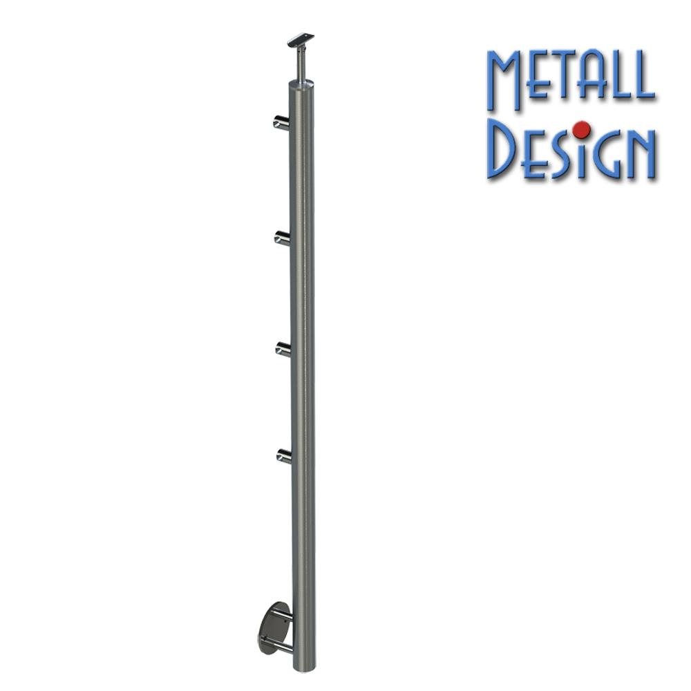 Gelanderpfosten Edelstahl Rundrohr Seitliche Montage Design Shop