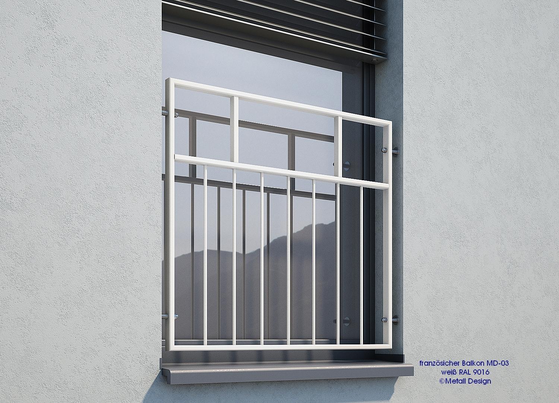 franzosischer balkon md 03p pulverbeschichtet weiss With französischer balkon mit holzstuhl weiß garten