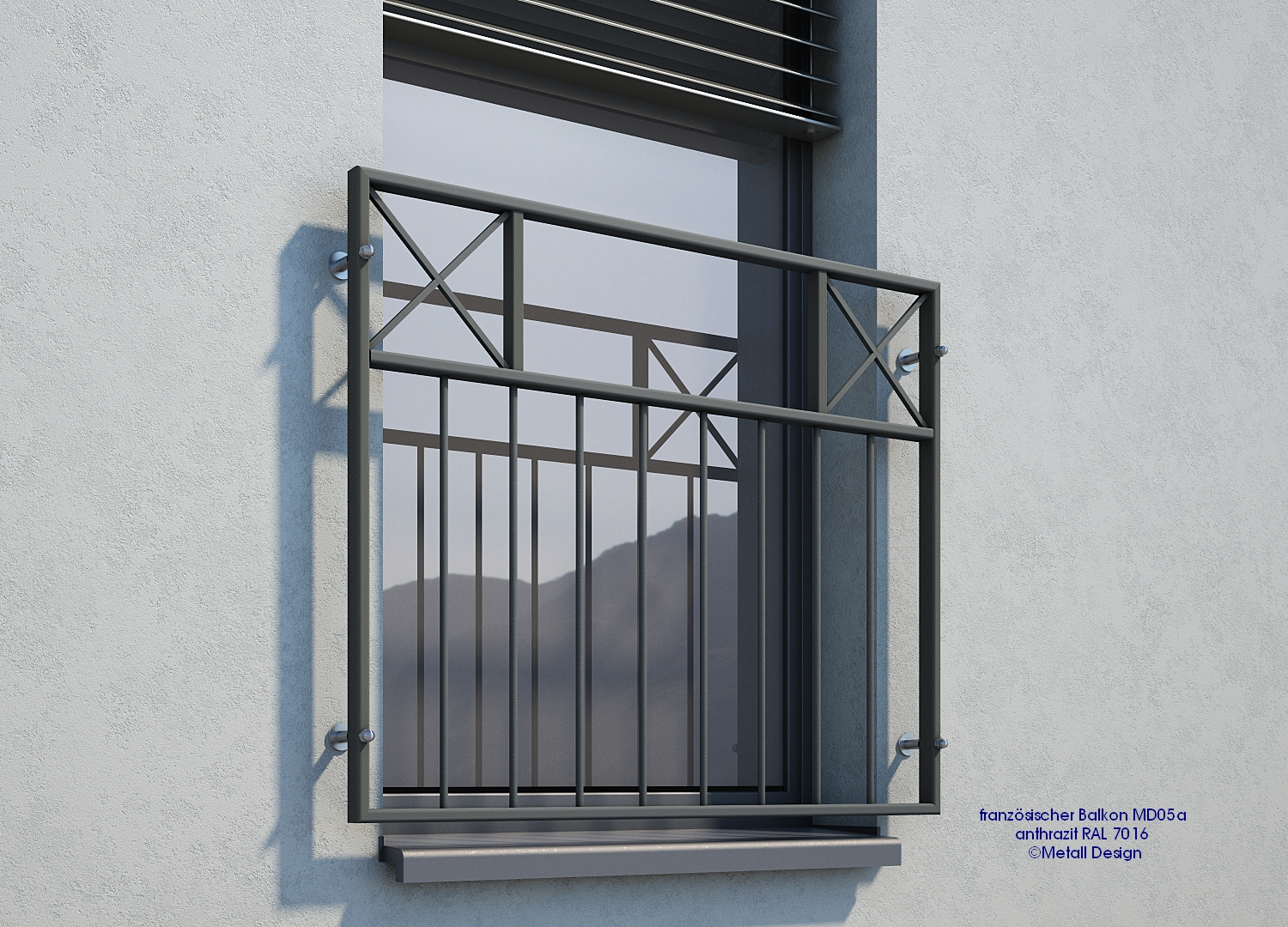 Franz sischer balkon md05ap anthrazit ral7016 design for Fenster 7016