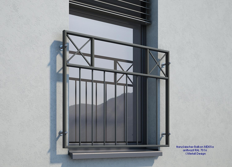 Französisch Balkon französischer balkon md05ap anthrazit ral7016 deutschland