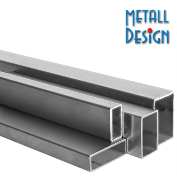 Rechteckrohr Edelstahl V2A 100 x 50 x 2 mm