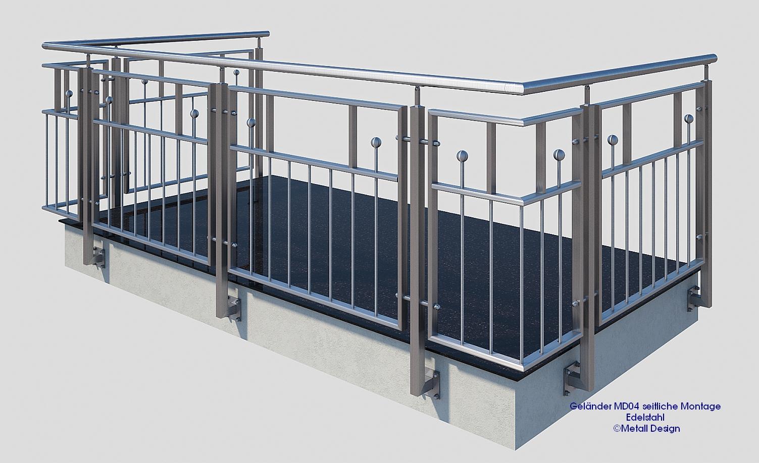 franz sischer balkon edelstahl md04a design shop baalcke ihr handlauf gel nder und. Black Bedroom Furniture Sets. Home Design Ideas