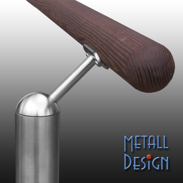 Stainless steel pipe support 45 °