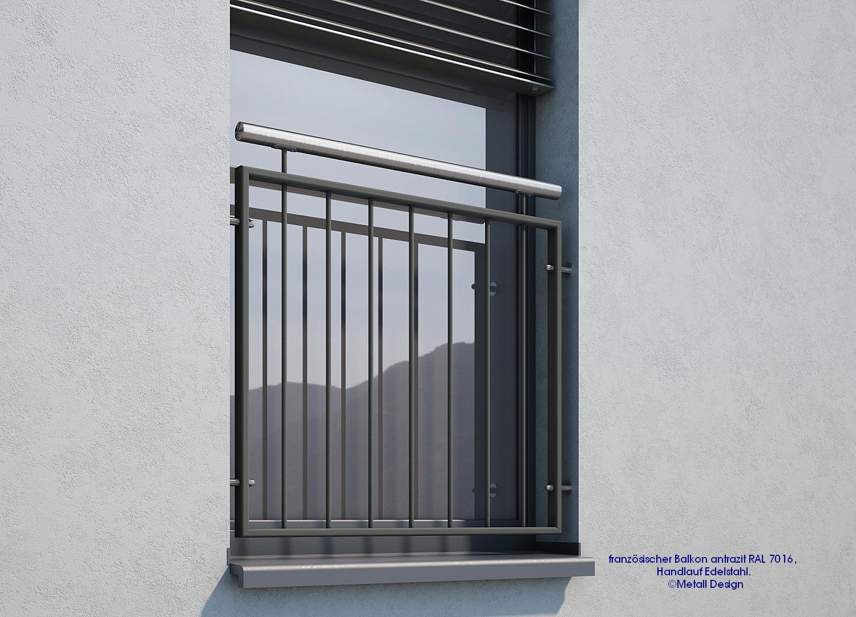 franz sischer balkon md 02ip pulverbeschichtet anthrazit ral7016 design shop baalcke ihr. Black Bedroom Furniture Sets. Home Design Ideas