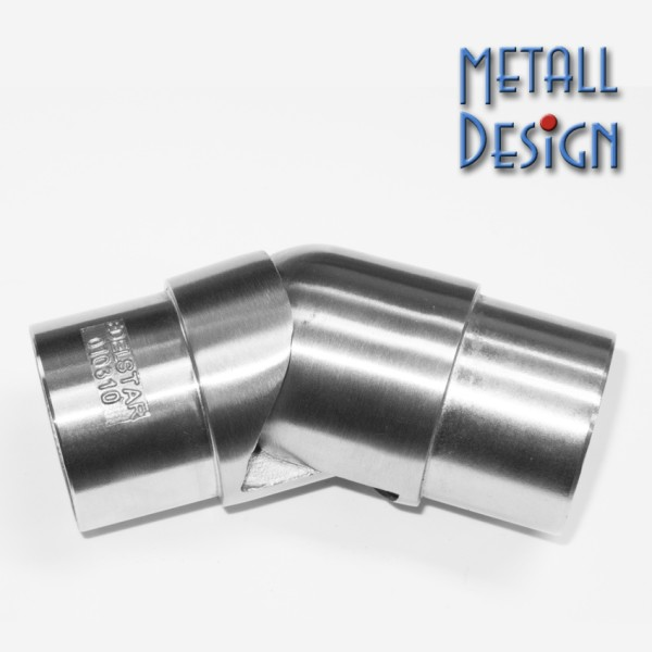 Handrail connector stainless steel hinged arch
