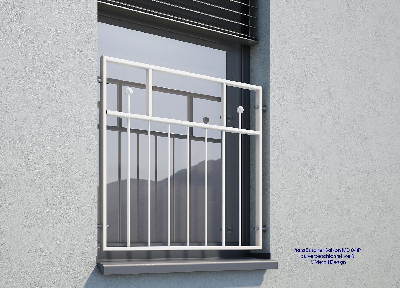 franz sischer balkon md03ap pulverbeschichtet wei ral9016 filigran deutschland. Black Bedroom Furniture Sets. Home Design Ideas