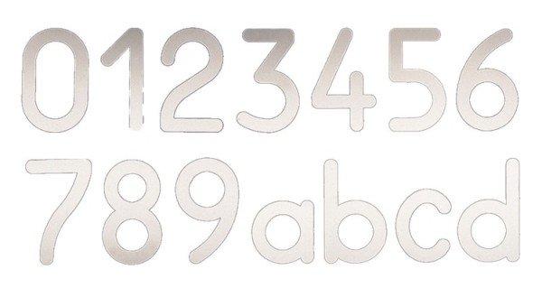 Heibi Hausnummer COLU aus Edelstahl zum Aufkleben