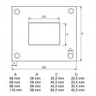 Ankerplatte Edelstahl Rechteckrohr Zeichnung