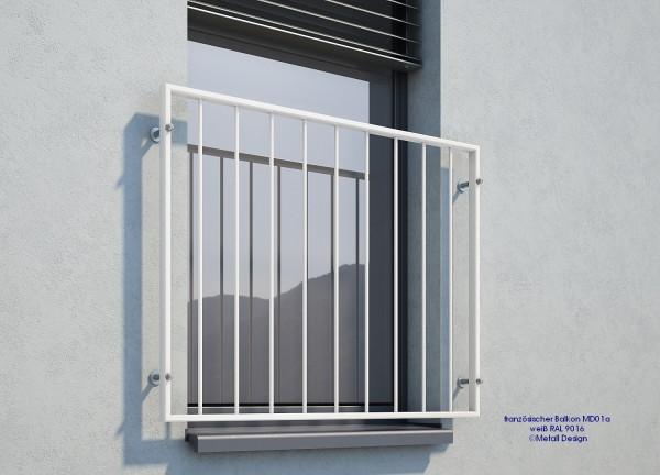Geländer für Fenster weiß RAL 9016