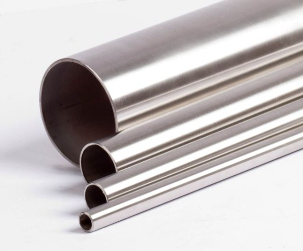 Stainless steel pipe 25.0 x 2.0 mm, V2A, sanded, cut to size length
