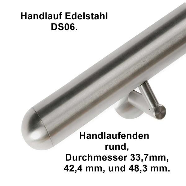 Handlauf DS06, Länge auf Maß aus Edelstahl.
