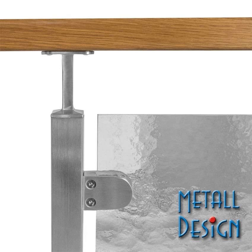 glashalter edelstahl glasgel nder vierkantrohr seitliche montage glasgel nder vierkantrohr. Black Bedroom Furniture Sets. Home Design Ideas