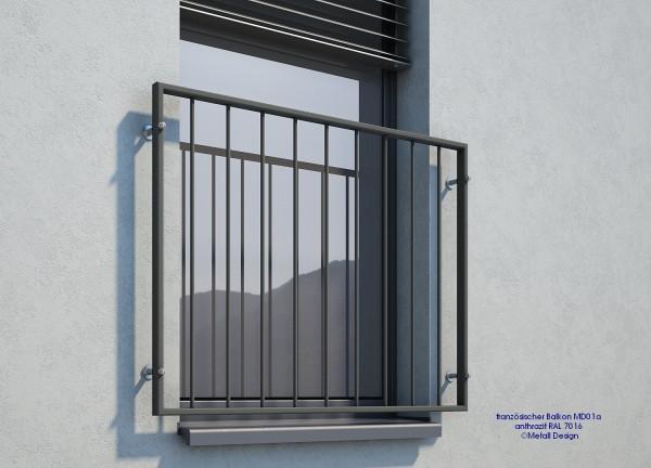 franz sischer balkon md01ap pulverbeschichtet anthrazit. Black Bedroom Furniture Sets. Home Design Ideas