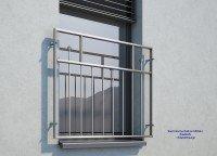 französischer Balkon Edelstahl MD 04a