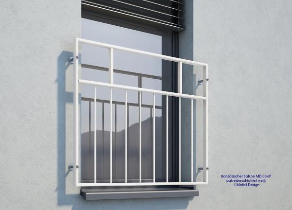 Fenster Geländer MD03 weiß.