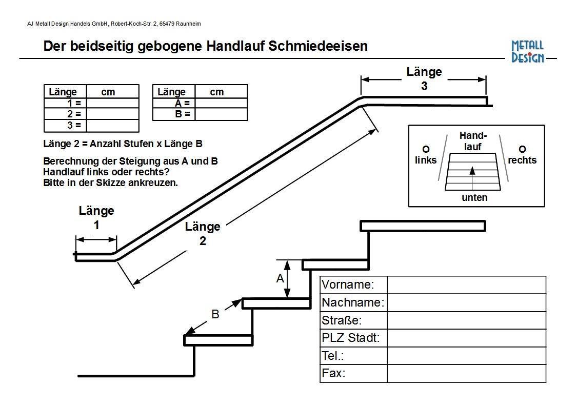 Treppengeländer Holz Gebogen ~ Handlauf beidseitig Abwinklung gebogen  Ihr Handlauf, Geländer, und