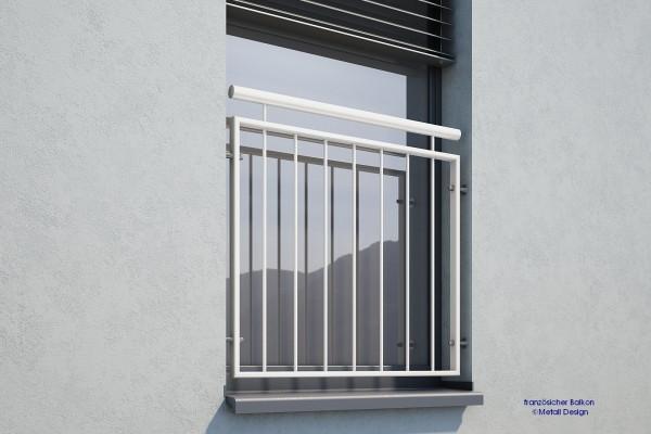 Französischer Balkon, pulverbeschichtet MD 02iP weiß RAL9016