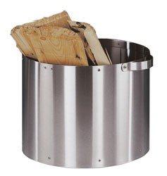 Heibi Holzkorb aus Edelstahl