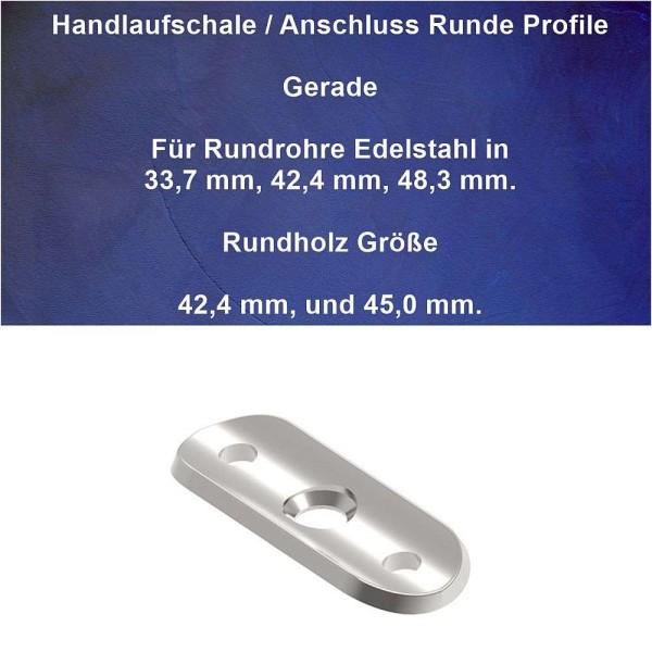 Anschlussplatte Handlauf für Handlaufrohr 33,7 mm, 42,4 mm, und 48,3 mm