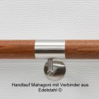 Handlauf Mahagoni mit Edelstahlverbinder
