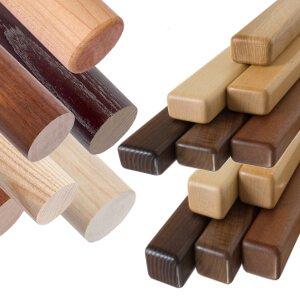 Handlauf Holz für Geländer aus Glas