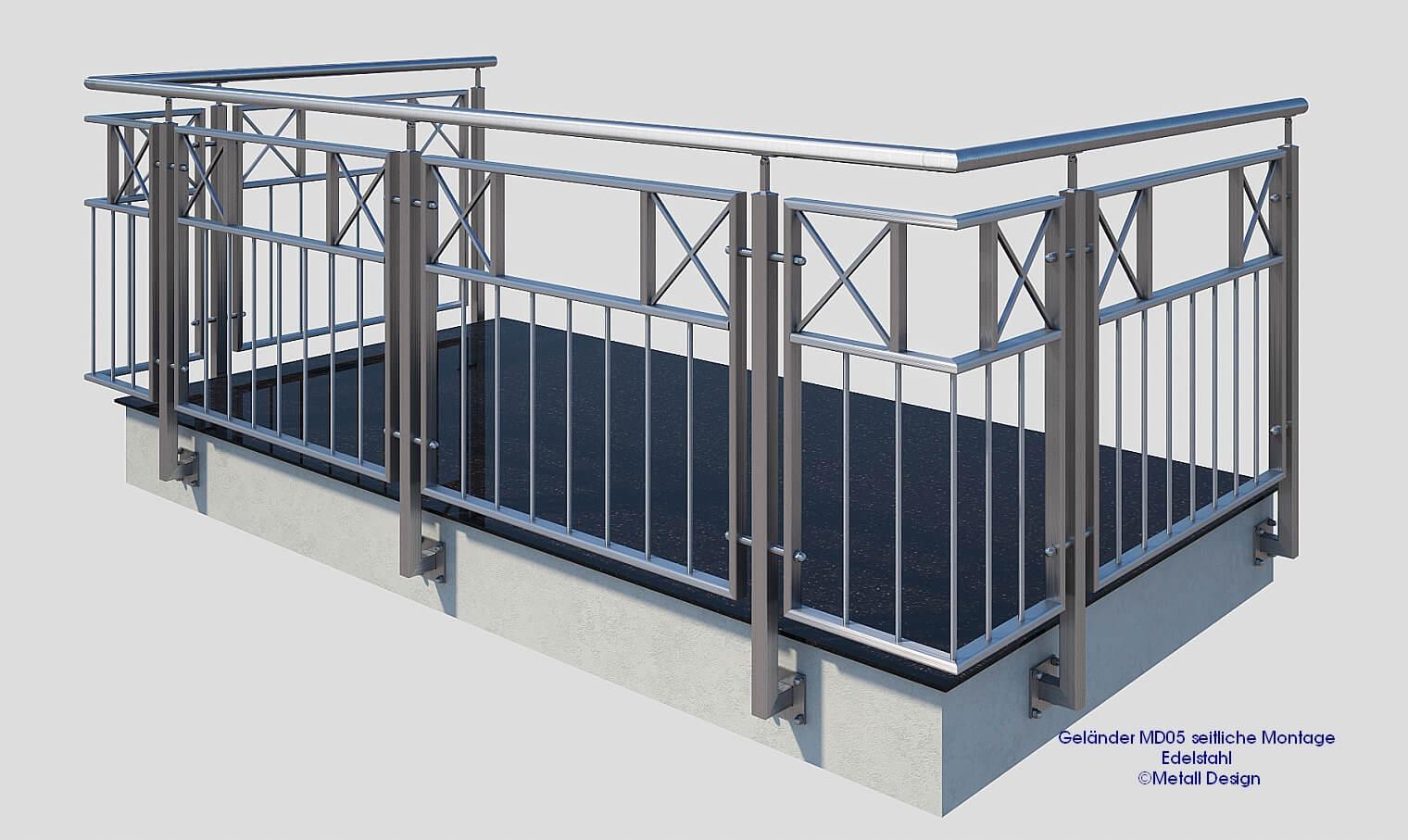 Franzosischer Balkon Edelstahl Mde05a Deutschland