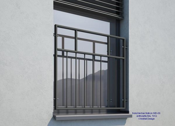Franzosischer Balkon Md 03p Pulverbeschichtet Anthrazit Schweiz