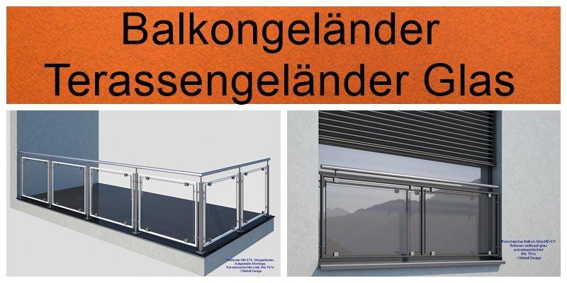 Balkon Glasgelander Kompletter Bausatz Einfache Montage