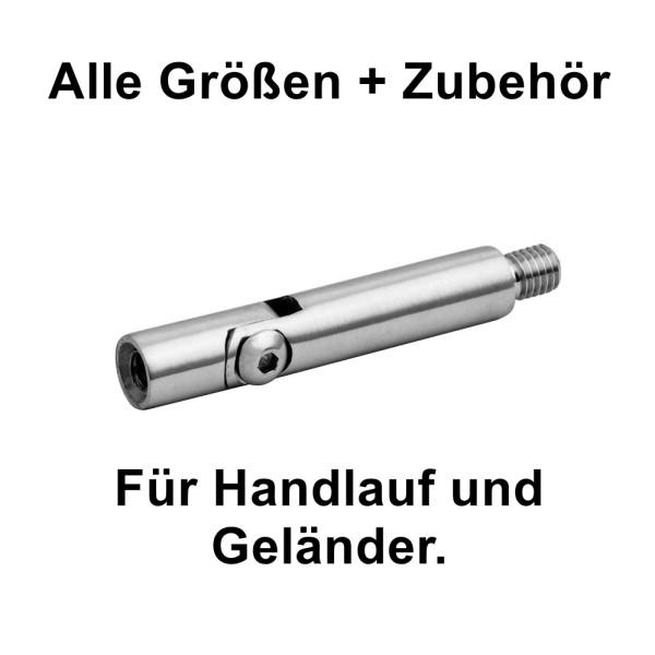 Handlaufhalter Gewindestift einstellbar 02, für Handlauf und Geländer