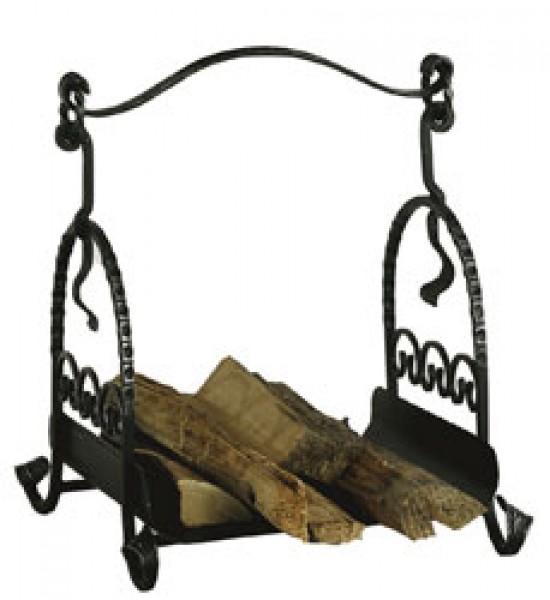 Holzkorb schwarz / antik