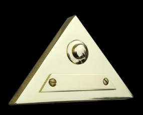 Dreieck-Klingelplatte massiv Messing