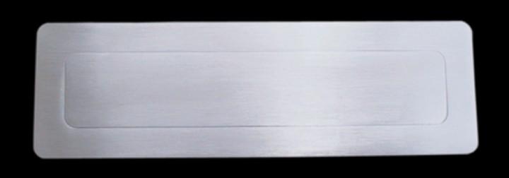 Briefeinwurf massiv Edelstahl