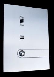 Sprechplatte massiv Edelstahl 6 mm, zusätzlich gefräst