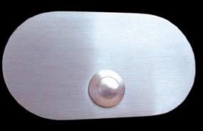 Klingelplatte massiv 6mm Edelstahl