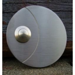 Klingelplatte-Edelstahl rund massiv 6mm