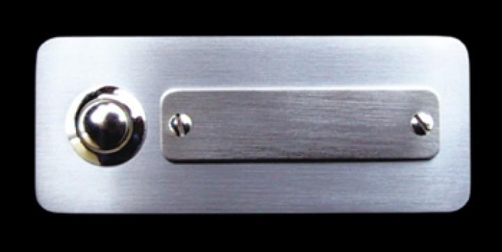 Klingelplatte Edelstahl AB 81501- 1er